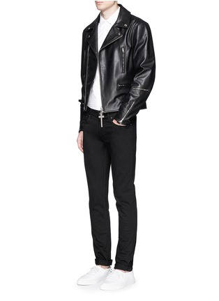 Figure View - Click To Enlarge - Givenchy - Leather biker jacket