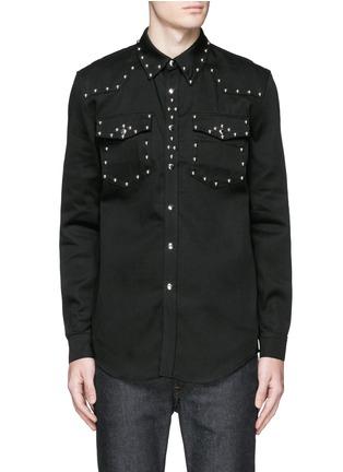 Main View - Click To Enlarge - Givenchy - Stud denim shirt