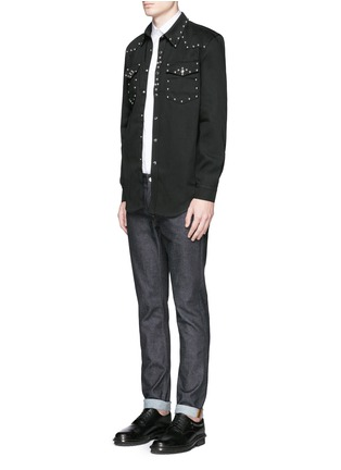 Figure View - Click To Enlarge - Givenchy - Stud denim shirt