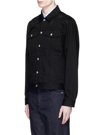 Front View - Click To Enlarge - Givenchy Beauty - Leather star appliqué denim jacket