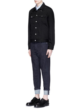 Figure View - Click To Enlarge - Givenchy Beauty - Leather star appliqué denim jacket