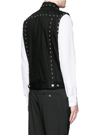 Back View - Click To Enlarge - Givenchy - Stud denim vest