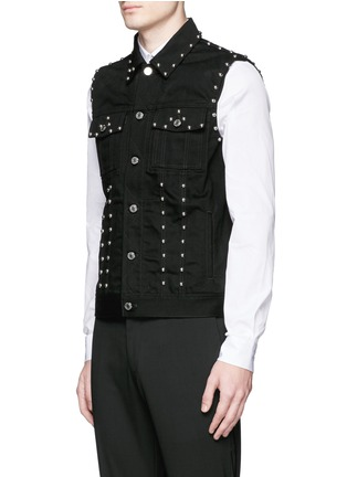Front View - Click To Enlarge - Givenchy - Stud denim vest