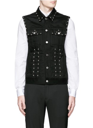 Main View - Click To Enlarge - GIVENCHY - Stud denim vest