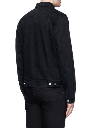 Back View - Click To Enlarge - GIVENCHY - Distressed denim jacket