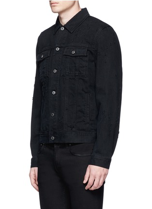 Front View - Click To Enlarge - GIVENCHY - Distressed denim jacket