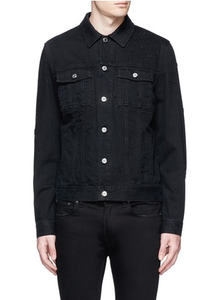 Main View - Click To Enlarge - GIVENCHY - Distressed denim jacket