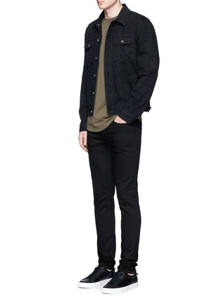 Figure View - Click To Enlarge - GIVENCHY - Distressed denim jacket