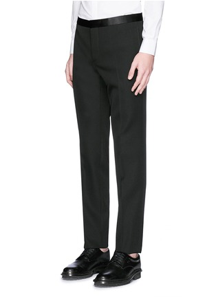 Detail View - Click To Enlarge - Givenchy Beauty - Satin Madonna collar wool tuxedo suit