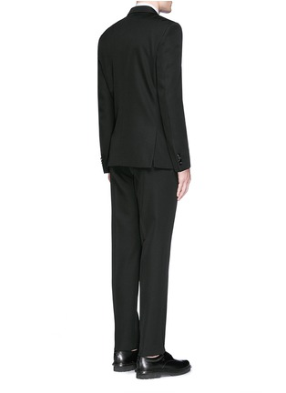Back View - Click To Enlarge - Givenchy Beauty - Satin Madonna collar wool tuxedo suit