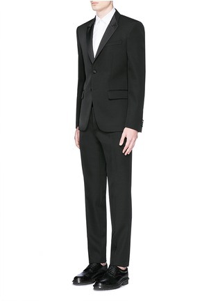 Figure View - Click To Enlarge - Givenchy Beauty - Satin Madonna collar wool tuxedo suit