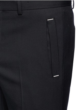 Detail View - Click To Enlarge - GIVENCHY - Metal plate wool hopsack pants