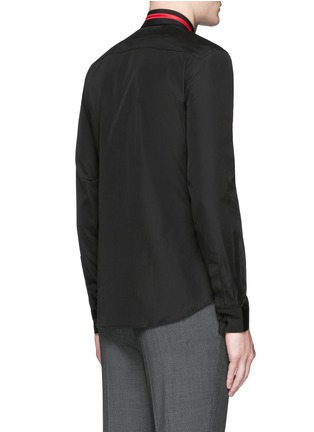 Back View - Click To Enlarge - Givenchy - Star stripe collar poplin shirt