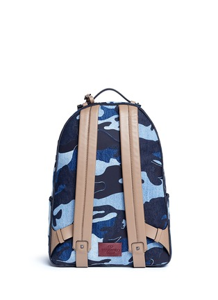 Back View - Click To Enlarge - Valentino - Camouflage patchwork denim backpack