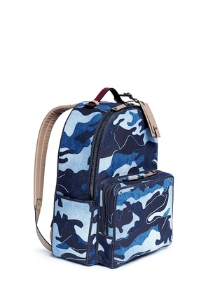 Figure View - Click To Enlarge - Valentino - Camouflage patchwork denim backpack