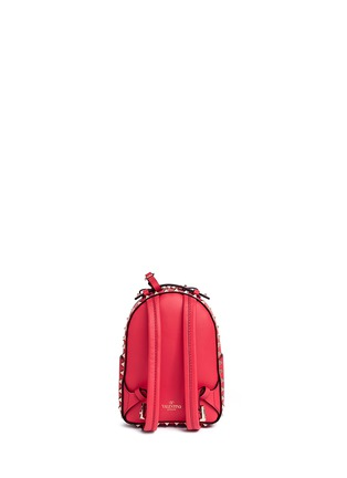 Back View - Click To Enlarge - Valentino - 'Rockstud' mini leather backpack