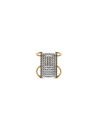 Main View - Click To Enlarge - Yannis Sergakis Adornments - 'Charnières' diamond 18k gold 11 tier ring