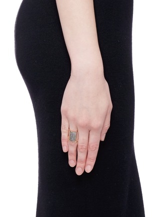 Figure View - Click To Enlarge - Yannis Sergakis Adornments - 'Charnières' diamond 18k gold 11 tier ring