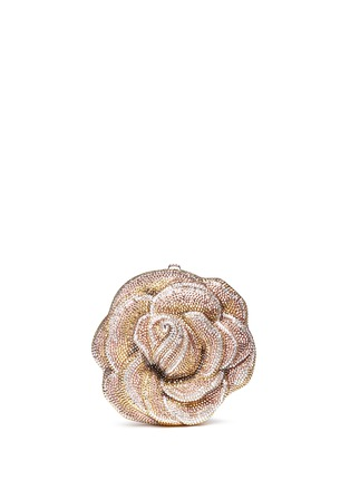 Main View - Click To Enlarge - Judith Leiber - 'New Rose' crystal pavé minaudière