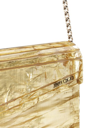 Detail View - Click To Enlarge - Jimmy Choo - 'Candy' crinkle metallic lamé acrylic clutch