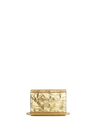 Back View - Click To Enlarge - Jimmy Choo - 'Candy' crinkle metallic lamé acrylic clutch