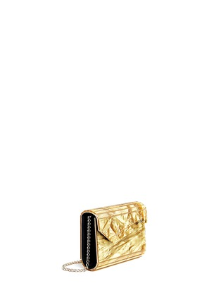 Front View - Click To Enlarge - Jimmy Choo - 'Candy' crinkle metallic lamé acrylic clutch