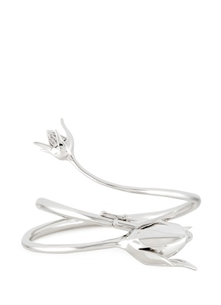 Detail View - Click To Enlarge - Eddie Borgo - 'Climbing Rose' crystal pavé cone bud cuff