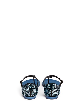 Back View - Click To Enlarge - Giuseppe Zanotti Design - 'Rock' crystal pavé suede thong sandals