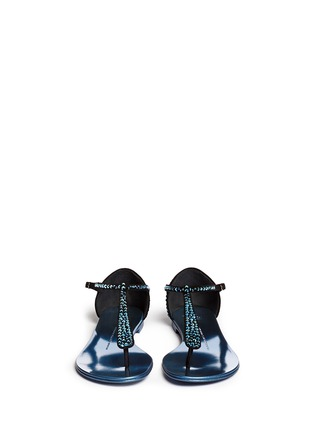 Figure View - Click To Enlarge - Giuseppe Zanotti Design - 'Rock' crystal pavé suede thong sandals