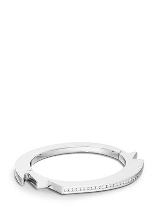 Main View - Click To Enlarge - Lynn Ban - 'Handcuff 2' diamond sterling silver hinged bangle