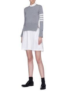 Thom Browne Stripe sleeve cashmere sweater