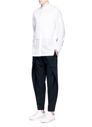 Detail View - Click To Enlarge - FFIXXED STUDIOS - Front wrap wool unisex pants
