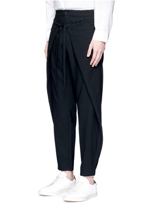 Front View - Click To Enlarge - FFIXXED STUDIOS - Front wrap wool unisex pants