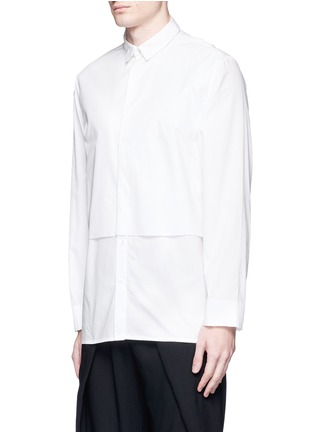 Front View - Click To Enlarge - FFIXXED STUDIOS - Double-layered cotton unisex shirt