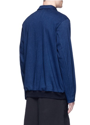 Back View - Click To Enlarge - FFIXXED STUDIOS - Notch lapel unisex pullover