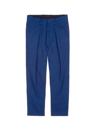 Main View - Click To Enlarge - FFIXXED STUDIOS - 'Wutong' pleated chambray unisex pants