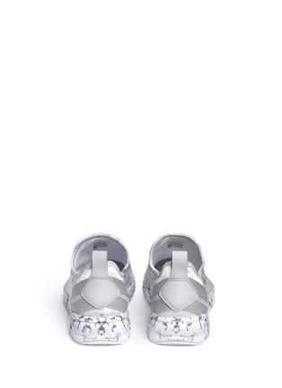Back View - Click To Enlarge - Reebok - 'Furylite Stones Pack' print neoprene slip-on sneakers