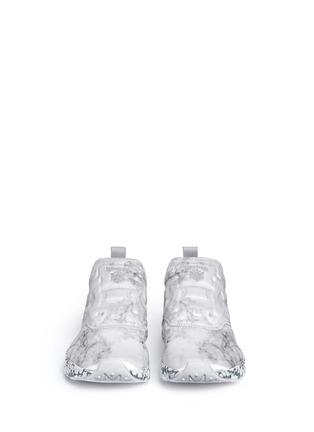 Front View - Click To Enlarge - Reebok - 'Furylite Stones Pack' print neoprene slip-on sneakers