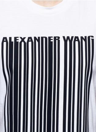 Detail View - Click To Enlarge - ALEXANDER WANG - Barcode print cropped tank top