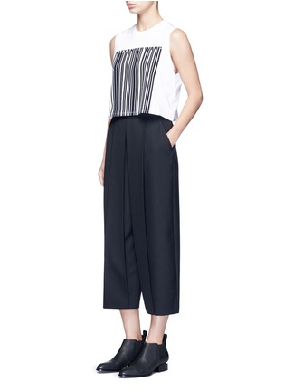 Figure View - Click To Enlarge - alexanderwang - Barcode print cropped tank top