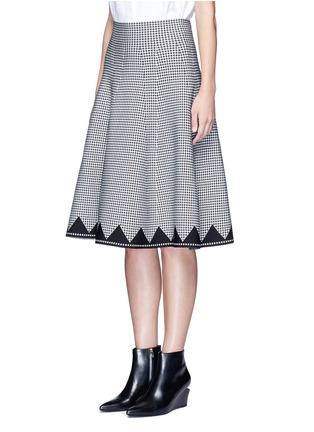 Front View - Click To Enlarge - ALEXANDERWANG - Houndstooth flared skirt