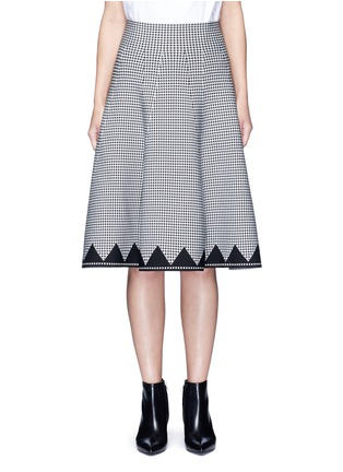 Main View - Click To Enlarge - ALEXANDERWANG - Houndstooth flared skirt