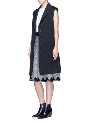 Figure View - Click To Enlarge - ALEXANDERWANG - Houndstooth flared skirt