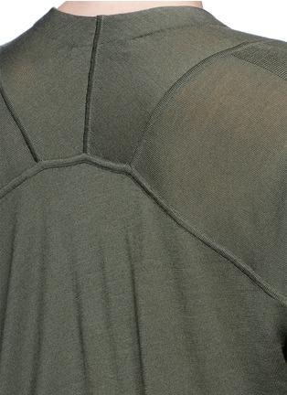 Detail View - Click To Enlarge - Alexander Wang  - Asymmetric dipped hem Merino wool cardigan