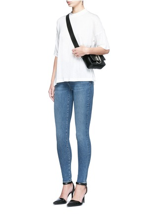 Figure View - Click To Enlarge - Alexander Wang  - 'Whip' washed slim fit jeans