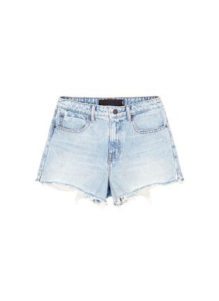 Main View - Click To Enlarge - Alexander Wang  - 'Bite' frayed cuff denim shorts