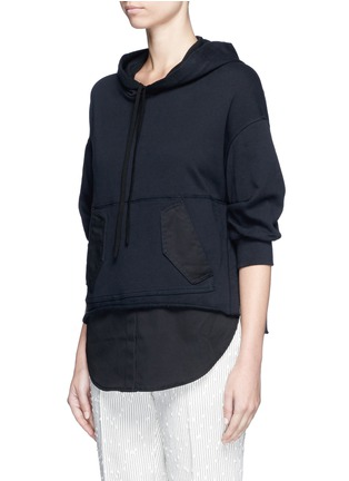 Front View - Click To Enlarge - 3.1 Phillip Lim - Twill hem French terry utility sweatshirt