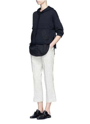Figure View - Click To Enlarge - 3.1 Phillip Lim - Twill hem French terry utility sweatshirt