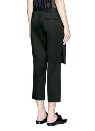 Back View - Click To Enlarge - 3.1 Phillip Lim - Apron front twill cropped pants