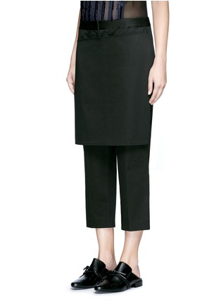 Front View - Click To Enlarge - 3.1 Phillip Lim - Apron front twill cropped pants